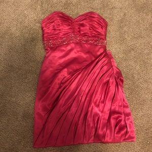 Dresses & Skirts - Pink satin strapless dress